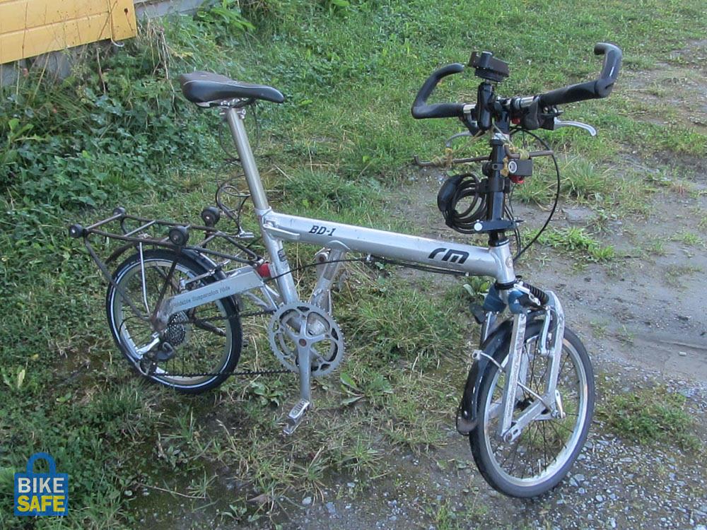 A kerékpár felszereltsége lopás előtt