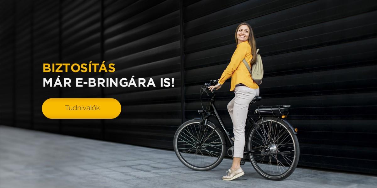 Elektromos kerékpárokra is köthető biztosítás!